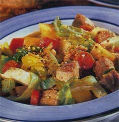 Блюда со стебля сельдереи